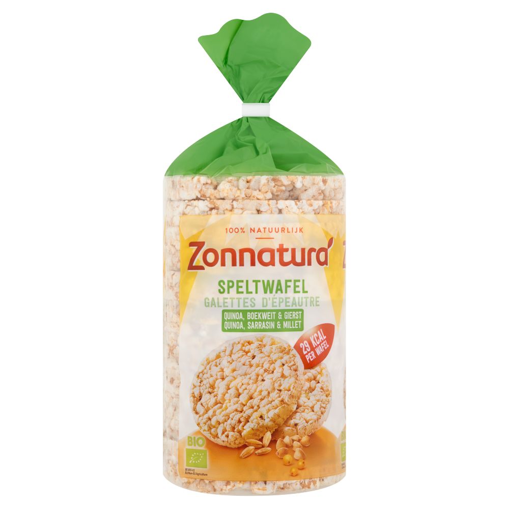 Speltwafel met Quinoa, Boekweit & Gierst